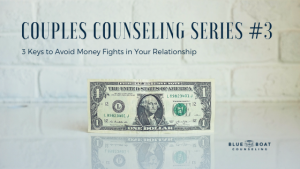1 dollar bill on counter. Marriage counseling in Columbus, OH is available at Blue Boat Counseling to help your relationship.