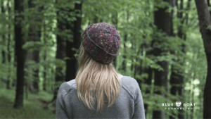 Girl standing in the woods | Find Columbus counseling for depression at Blue Boat Counseling in Worthington Ohio | 2020