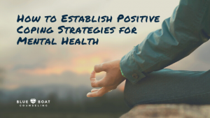 Man's hand in yoga pose | Columbus therapist shares positive coping strategies for mental health | Blue Boat Counseling 2020