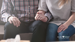 Couple holding hands | Find Columbus OH counseling for your marriage and relationships at Blue Boat Counseling | March 2020