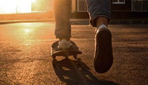 Feet on skateboard | Teen and family counseling Columbus Ohio available at Blue Boat Counseling | teen anxiety & depression