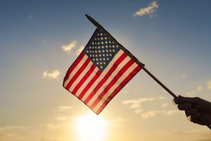 American flag in sun | Find military & veteran counseling Columbus Ohio at Blue Boat Counseling | Anxiety & PTSD treatment