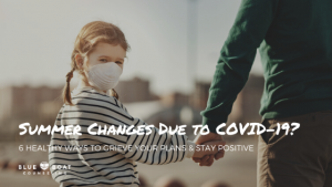 Little girl wearing a mask | How to grieve your 2020 summer changes due to COVID-19 | Blue Boat Counseling | Online Therapy