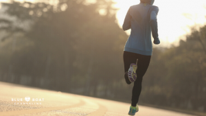 Woman jogging | Ohio online therapy for depression & anxiety | Columbus therapists | Blue Boat Counseling Ohio | 2020