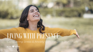 Woman smiling outside | Columbus therapists for anxiety & stress | online therapy in Ohio at Blue Boat Counseling | July 2020