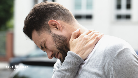Man in pain | online mental health therapy for depression | depression therapist in Columbus | 2020 | Blue Boat Counseling